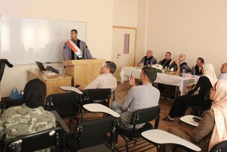 Researcher Qutaiba Abdullhadi Al-Karam Thesis Defense