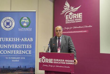 جانب من مشاركة رئيس الجامعة الاستاذ الدكتور علي زيدان ابو زهري، في الاجتماع المشترك الثالث للجامعات العربية والجامعات التركية