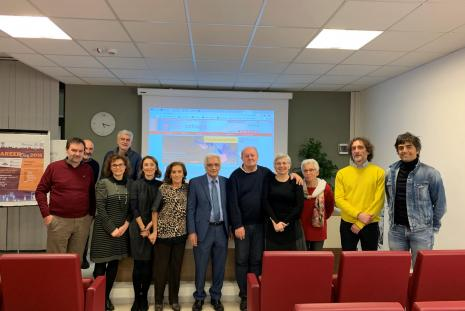 Prof. Waleed Deeb's during his visit to the Italian University