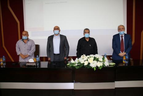 Speakers in the seminar of the 16th anniversary of the death of Yasser Arafat