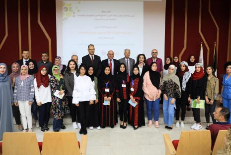 """The University Hosts a Ceremony for Finishing the Program """"Enhancing the Skills of Leading Girls and Strengthening Their Economic Opportunities"""""""