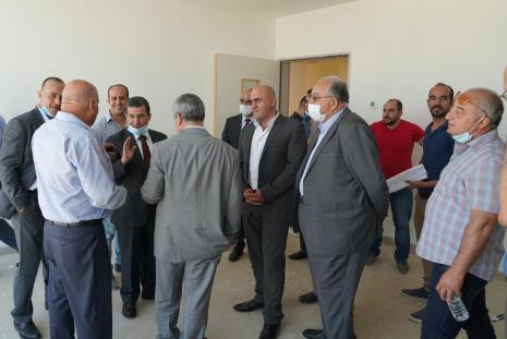 "An inspection tour to see the level of accomplishment that Ibn Sina hospital ""the educational hospital for the Faculty of Medicine in AAUP"" reached"