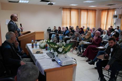 """AAUP Organized a Lecture Entitled """" Challenges Facing the Waqf Funds in Palestine """""""