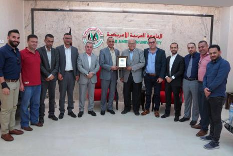 The University's President welcomed the Director of the Preventive Security Service in Jenin