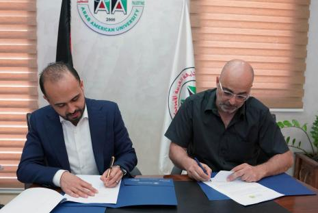 MoU Signing between AAUP and the Arab Center for the Advancement of Social Media