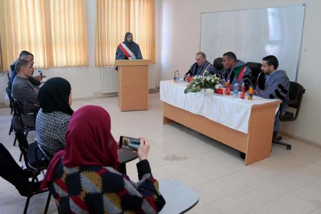 The researcher Eyla' Mohammad Qubha, a commercial law student