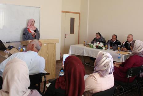 Researcher Maysam Mohammad Abdullah thesis defense