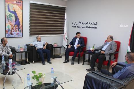 University president Prof. Dr. Ali Zeidan Abu Zuhri reception of Dr. Jamal Nazal