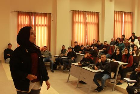 """The conclusion of Shashat 11th festival entitled """"Let's Watch a Movie"""" that was holding the motto of """"I am Palestinian"""" as 20 films were presented with AAUP students attendance."""