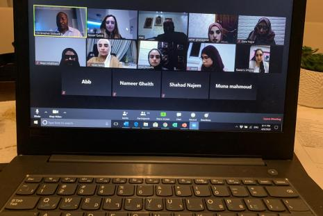 Dr Christopher Sistrunk joined the Research Methods course meeting via zoom