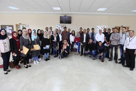 The participating students in the corporate governance competition for Palestinian universities