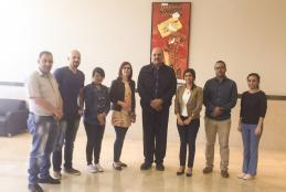 Conflicts resolution and development master program students with Dr. Dalal Eriqat and Businessman Sam Bahour