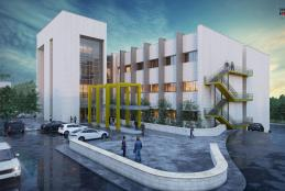 تصميم لمبنى المختبرات قيد الانشاء