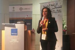 Dr. Saba' Jarrar during her participation as Palestine's representative in the Drassa Annual Forum for Sports Sciences