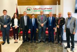 The University and Bank of Palestine discuss joint cooperation