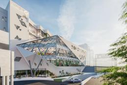 تصميم لمبنى كلية العلوم الحديثة والاعلام الحديث