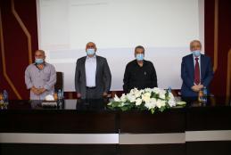 المتحدثون في الندوة بمناسبة مرور 16 عاما على رحيل الشهيد ياسر عرفات
