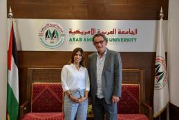 Head of Swiss Palestinian Association visits AAUP campus at Ramallah