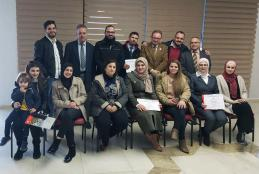 Graduation of the participants in the courses that the Continuing Education Center in AAUP organized