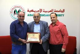Jenin Municipality Honors AAUP President Prof. Abu Zuhri