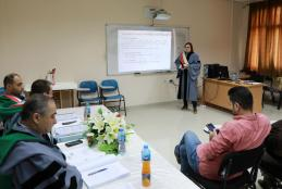 Part of discussion of the researcher Hala Deaibes, a student of strategic planning and fundraising