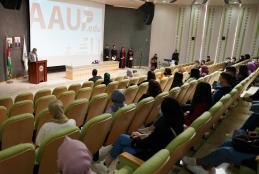 جانب من فعالية اليوم الإرشادي للطلبة الجدد الملتحقين في حرم رام الله