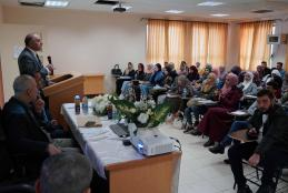 "AAUP Organized a Lecture Entitled "" Challenges Facing the Waqf Funds in Palestine """