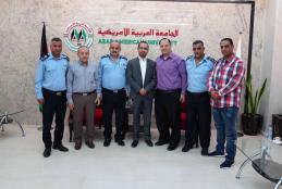 Police of Jenin Governorate visit the University