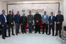 The university welcomed a delegation from the Jordanian field hospital in Jenin
