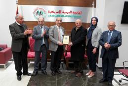 The Secretary General of the Jordanian Medical Council visits Arab American University campus in Ramallah