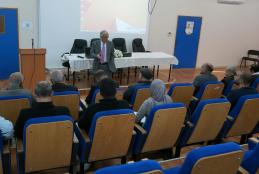 The VP for Administrative and Financial Affairs during his speech in the opening ceremony of the workshop
