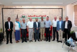 The president assistant at AAUP Eng. Bara Asfour welcomed a delegation from Bielefeld city – Germany