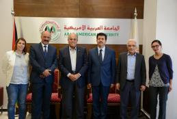The Tunisian Ambassador visits the University Campus at Ramallah & Discuss Mutual Cooperation