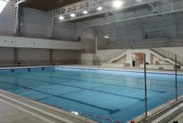 الجامعة تقترب من انتهاء العمل بمشروع المسبح النصف الاولمبي المغلق الاول من نوعه فلسطين