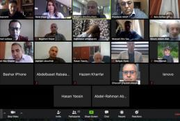 The Dean's Council meeting through zoom