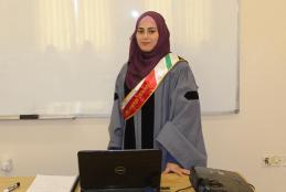 Researcher Isra' Abu Sharbeh