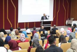 Dr. Nizam Diab speech during the graduation ceremony