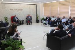 University President welcomes the Turkish Businessmen Delegation
