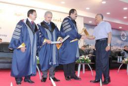 جانب من تكريم الفائزين بجوائز البحث العلمي