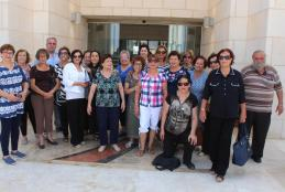 Part of the 48 Palestinians delegation visit to the university