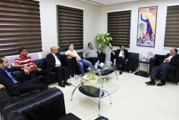 جانب من زيارة رئيس مجلس الإدارة الدكتور يوسف عصفور للجامعة