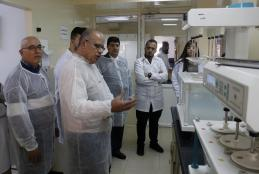 AAUP Pharmacy Students in a Field Trip to Al Quds Pharmaceutical Company in Ramallah