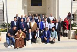 جانب من زيارة ملتقى العلاقات العامة الفلسطيني للجامعة