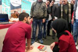"""The University Hosts Palestinian Universities on the Guidance Day for """"Al-Injaz"""" High School Students"""
