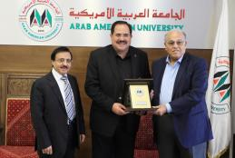 The University Honors Dr. Sabri Saidum for His Efforts in Develop the Education Sector in Palestine