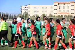 A Match Between the University's Team and the Team of the Palestinian Community in USA