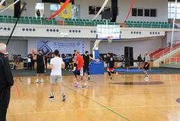 The Trainings of the Palestinian Basketball Team in the Sport Hall in AAUP