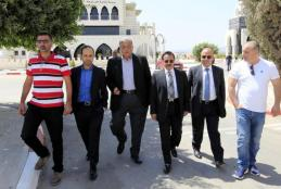 Chairman of The Directors Board Dr. Yousef Asfour Visits Arab American University Checking Its Achievements And Projects