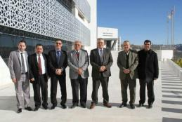MINISTER OF PALESTINIAN WATER AUTHORITY GHNEIM VISITS THE UNIVERSITY