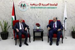 PRESIDENT OF THE SUPREME JUDICIAL COUNCIL ADVISOR SAAD VISITS THE UNIVERSITY